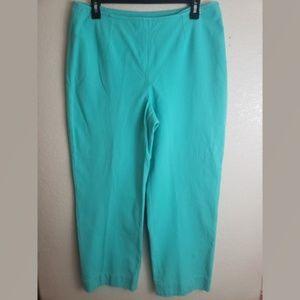 St. John Size 10 Blue Capris Crop Casual Pants